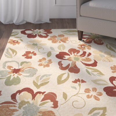 Midland Beige/Red Outdoor Area Rug Rug Size: 8 x 10