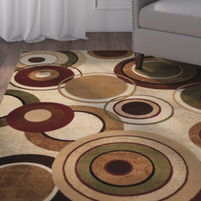 Collinsworth Earthtoned Circles 3 Piece Rug Set