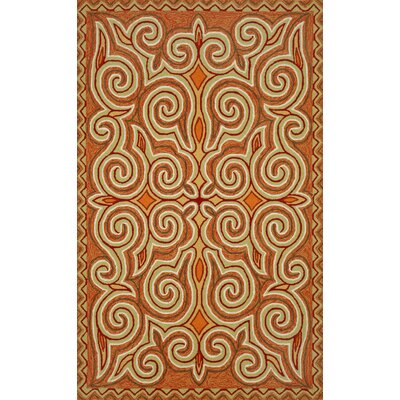 Bel Air Sunrise Kazakh Outdoor Orange Area Rug Rug Size: 5 x 76