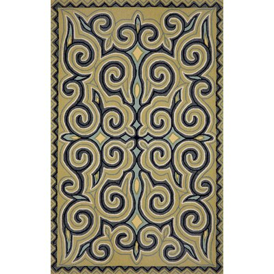 Bel Air Ocean Kazakh Outdoor Area Rug Rug Size: 76 x 96