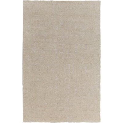 Donnellson Hand-Tufted Cream/Wheat Area Rug Rug size: 5 x 8