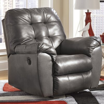 Bellville Manual Rocker Recliner Upholstery: Grey