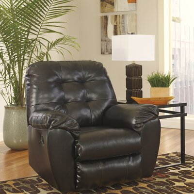 Bellville Manual Rocker Recliner Upholstery: Chocolate