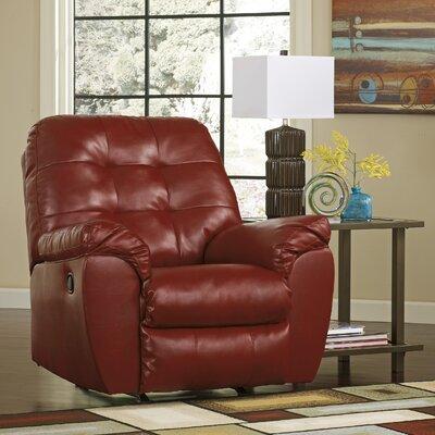 Bellville Manual Rocker Recliner Upholstery: Red