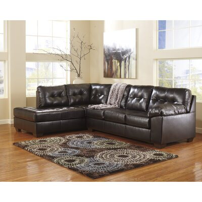 Bellville Sectional Upholstery: Chocolate
