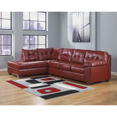 Bellville Sectional Upholstery: Red