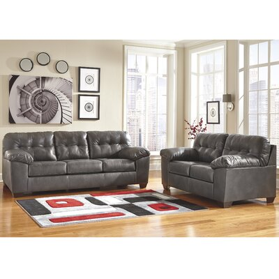 Bellville 2 Piece Living Room Set Upholstery: Grey