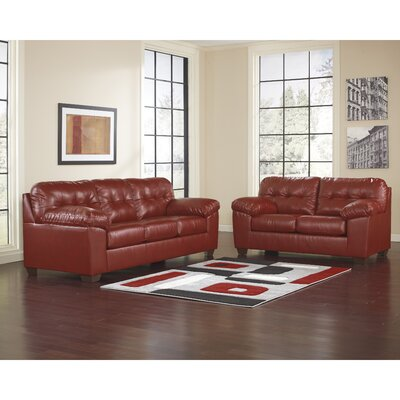 Bellville 2 Piece Living Room Set Upholstery: Red