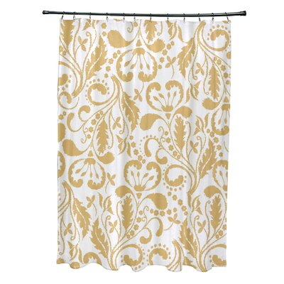 Rushton Shower Curtain Color: Yellow