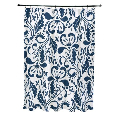 Rushton Shower Curtain Color: Blue
