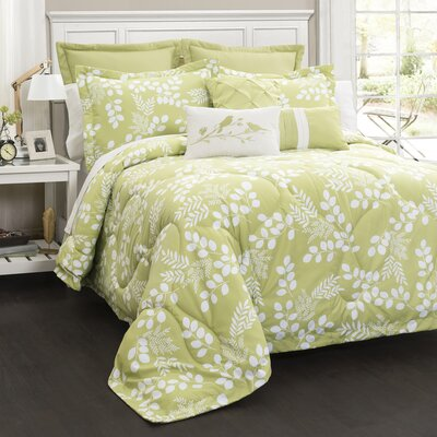 Blissfield 8 Piece Comforter Set Size: King