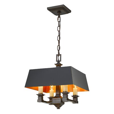 Columbine Valley 4-Light Semi Flush Mount