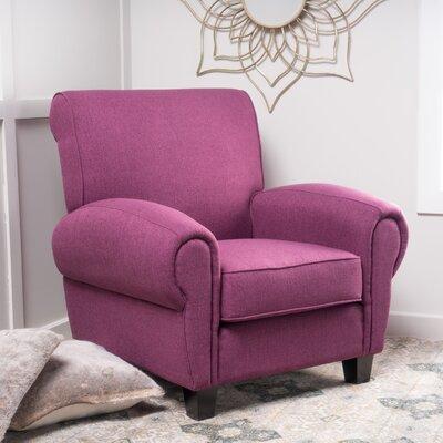 Whittemore Armchair Upholstery: Dark Fuschia