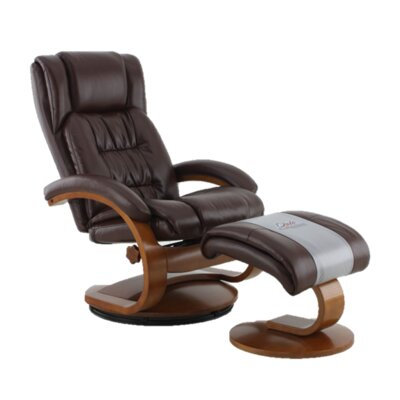 Flathead Lake Breathable Air Recliner Upholstery Color: Brown