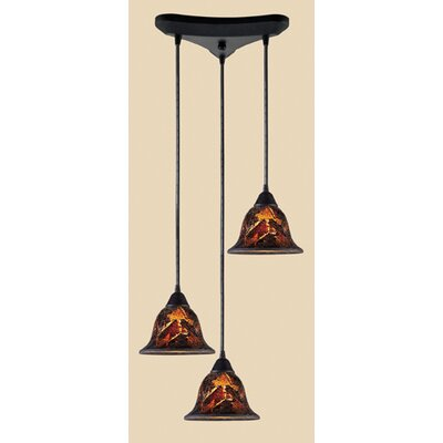 Roberta 3-Light Cascade Pendant