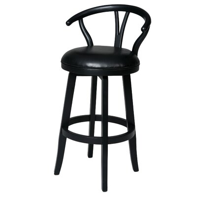 Boutwell 27 Swivel Bar Stool Finish: Ballarat Black