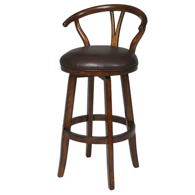 Boutwell 27 Swivel Bar Stool Finish: Distressed Cherry