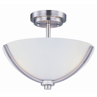 Bennet 3-Light Semi Flush Finish: Satin Nickel