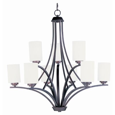 Bennet 9-Light Shaded Chandelier Finish: Oil Rubbed Bronze