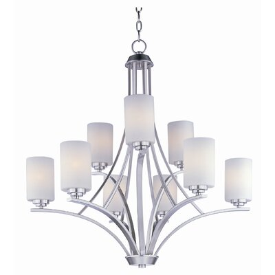 Bennet 9-Light Shaded Chandelier Finish: Satin Nickel