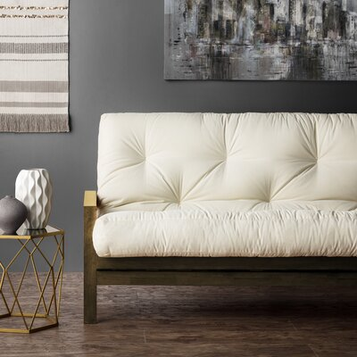 Boylston 10 Memory Foam Futon Mattress Color: Ivory, Size: Queen