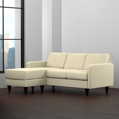 Karbach Reversible Sectional with Ottoman Upholstery: Creamy Tan