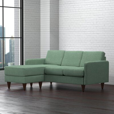 Botkins Reversible Chaise Sectional Upholstery: Teal Green