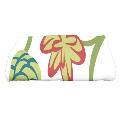 Tropical Floral Bath Towel Color: Navy Blue