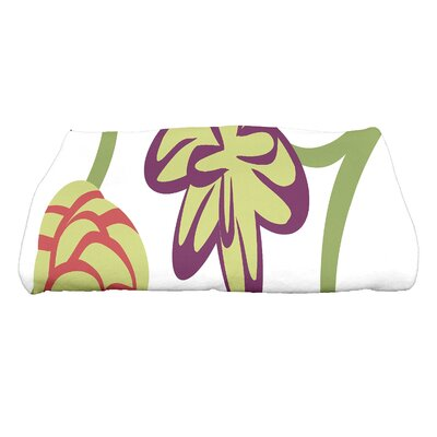 Tropical Floral Bath Towel Color: Gray