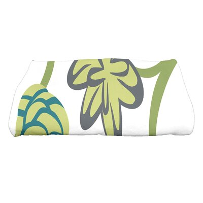 Tropical Floral Bath Towel Color: Purple