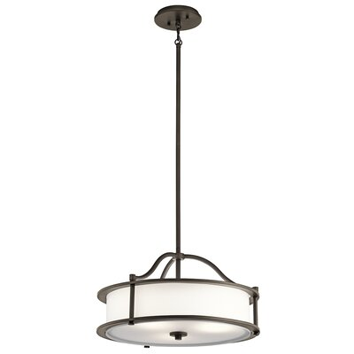 Boulder Creek 4-Light Drum Pendant Finish: Olde Bronze