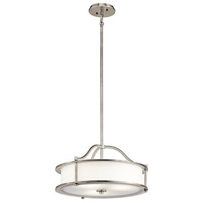 Boulder Creek 4-Light Drum Pendant Finish: Classic Pewter