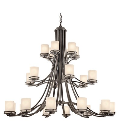 Bourneville 24-Light Shaded Chandelier Finish: Olde Bronze