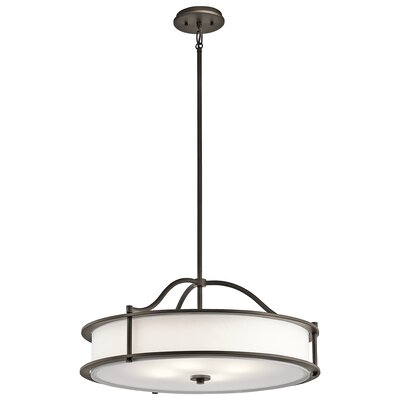 Boulder Creek 3-Light Drum Pendant Finish: Olde Bronze