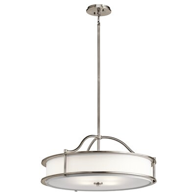 Boulder Creek 3-Light Drum Pendant Finish: Classic Pewter