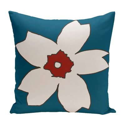 Broad Brook Outdoor Throw Pillow Color: Teal