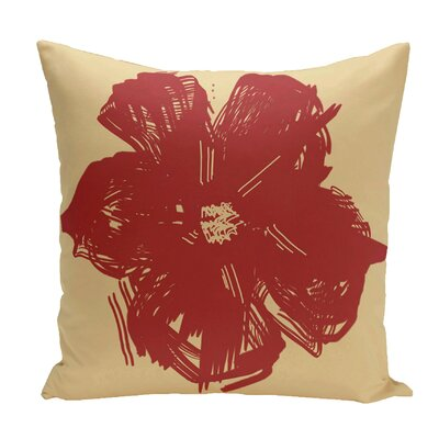 Broad Brook Outdoor Throw Pillow Color: Red