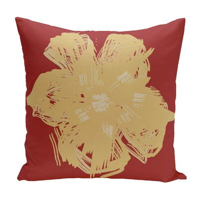 Broad Brook Outdoor Throw Pillow Color: Red/Yellow