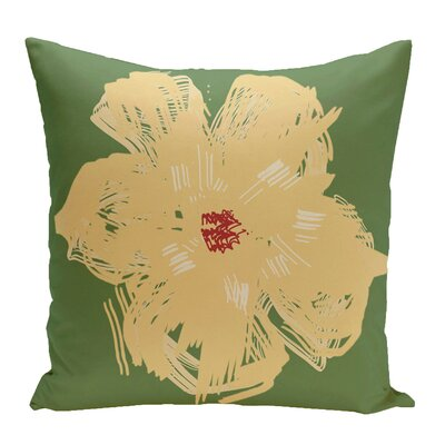 Broad Brook Outdoor Throw Pillow Color: Green/Yellow