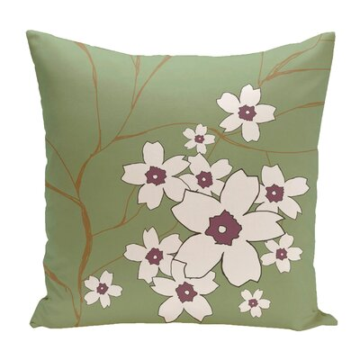 Broad Brook Outdoor Throw Pillow Color: Green