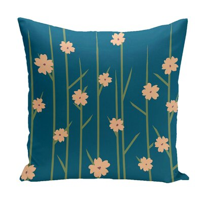 Broad Brook Outdoor Throw Pillow Color: Blue