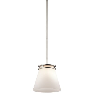 Bourneville 1-Light Mini Pendant Finish: Brushed Nickel