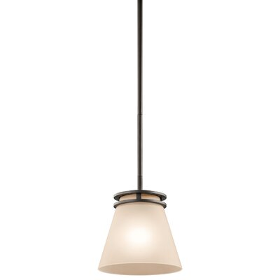 Bourneville 1-Light Mini Pendant Finish: Olde Bronze