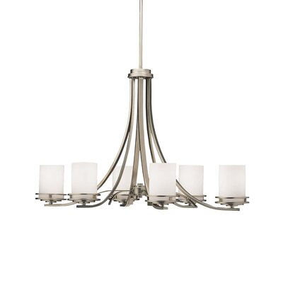 Bourneville 6-Light Shaded Chandelier