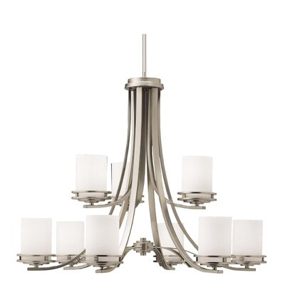 Clarkshire 9-Light Shaded Chandelier