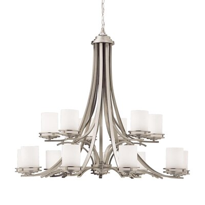Bourneville 15-Light Shaded Chandelier