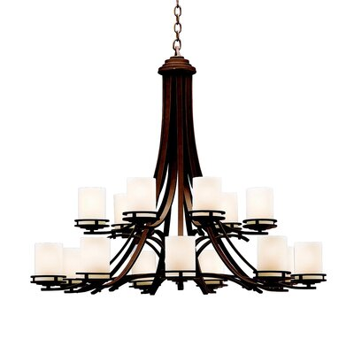Clarkshire 15-Light Shaded Chandelier