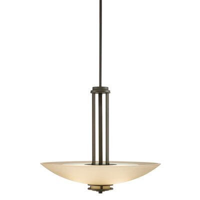 Bourneville 3-Light Inverted Pendant Finish: Olde Bronze