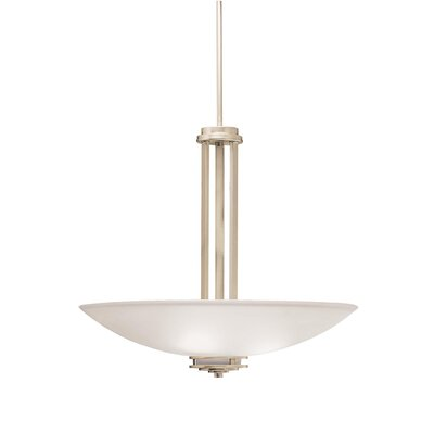 Bourneville 3-Light Inverted Pendant Finish: Brushed Nickel
