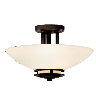 Bourneville Semi Flush Mount Finish: Olde Bronze, Size: 13.4 H x 24 W